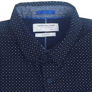 Denim & Flower Slim Fit Button Up Shirt